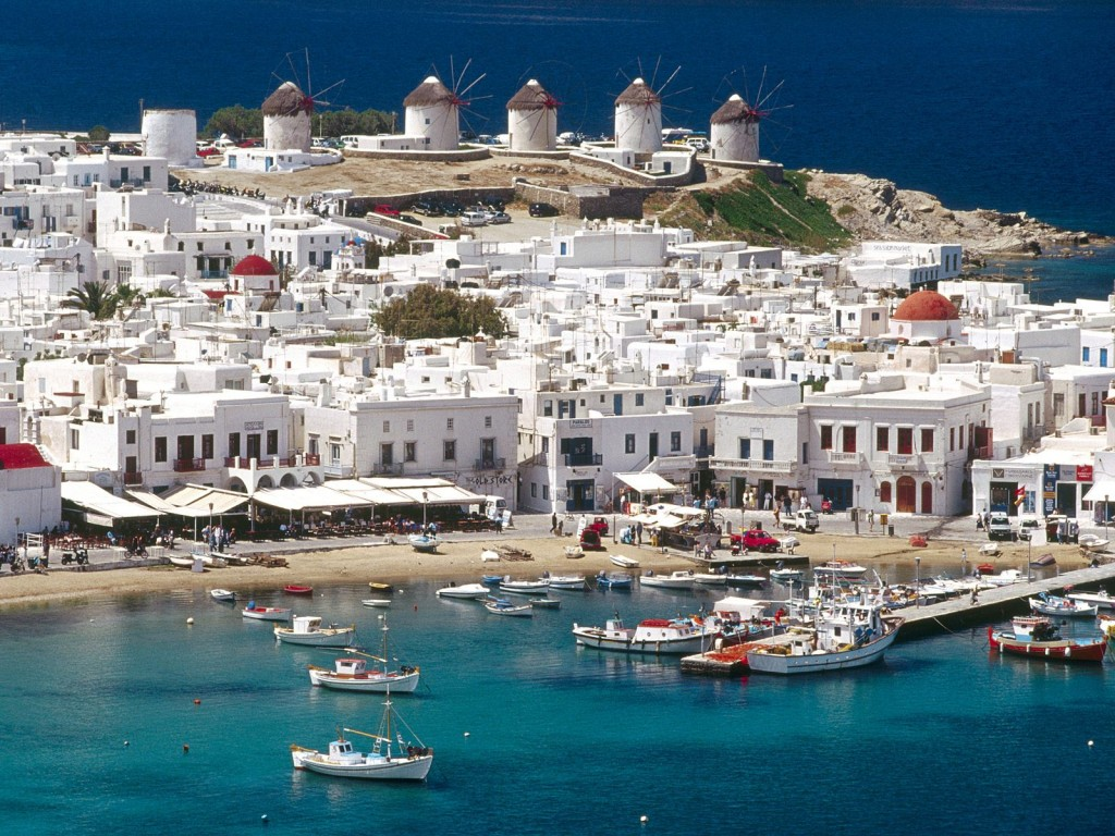 Mykonos-with-windmills